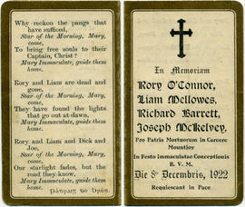 Memorial cards for executed republicans