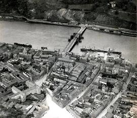 Aerial view of Waterford City and Redmond Bridge
