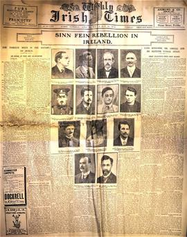 Newspaper reports of the 1916 Rising and its aftermath