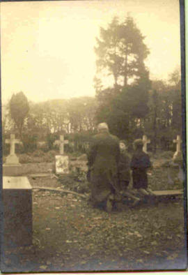 1937 Exhumation: grave before opening